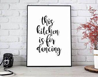 kitchen wall art print kitchen art kitchen signs kitchen print kitchen decor - Kitchen Art