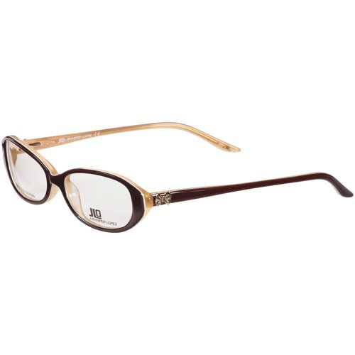 jlo by jennifer lopez womens eyeglass frames brown caramel