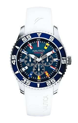 Mens s White 07 Resin Flag Watch - Nautica.com  f9aef34da456