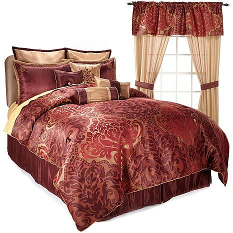 Highgate Manor 20-piece Ritz Comforter Set Burgundy ...