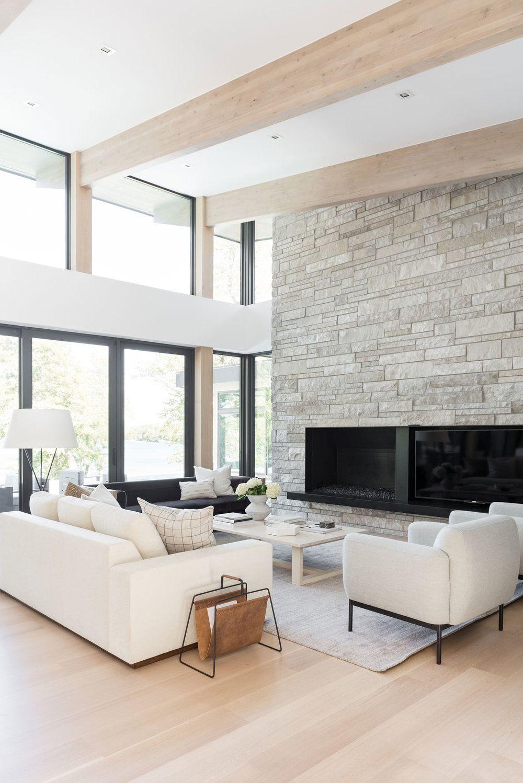 Swan Lake House: Exterior, Entry, Kitchen, Living, Kitchen #modernhousedesigninterior