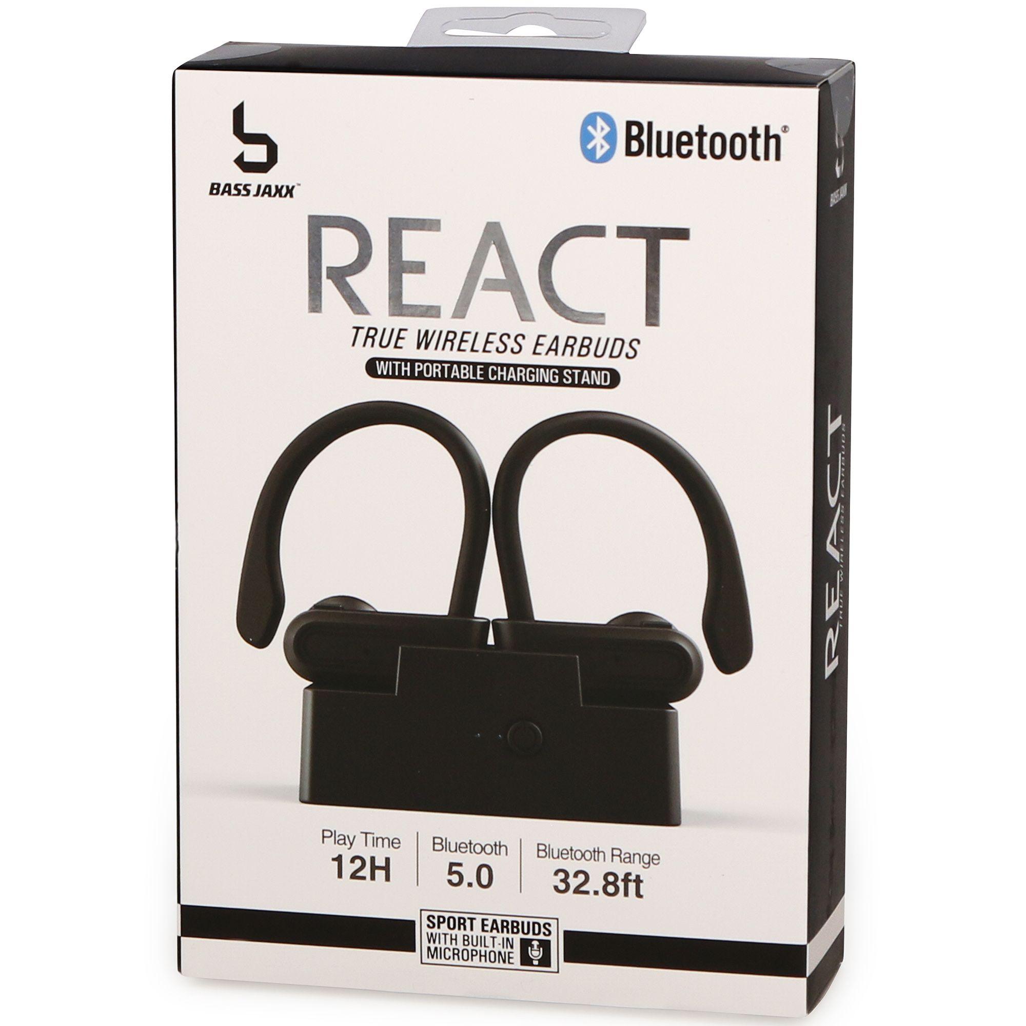 React True Wireless Bluetooth Sport Earbuds W Mic Charging Stand Sport Earbuds Earbuds Wireless Bluetooth