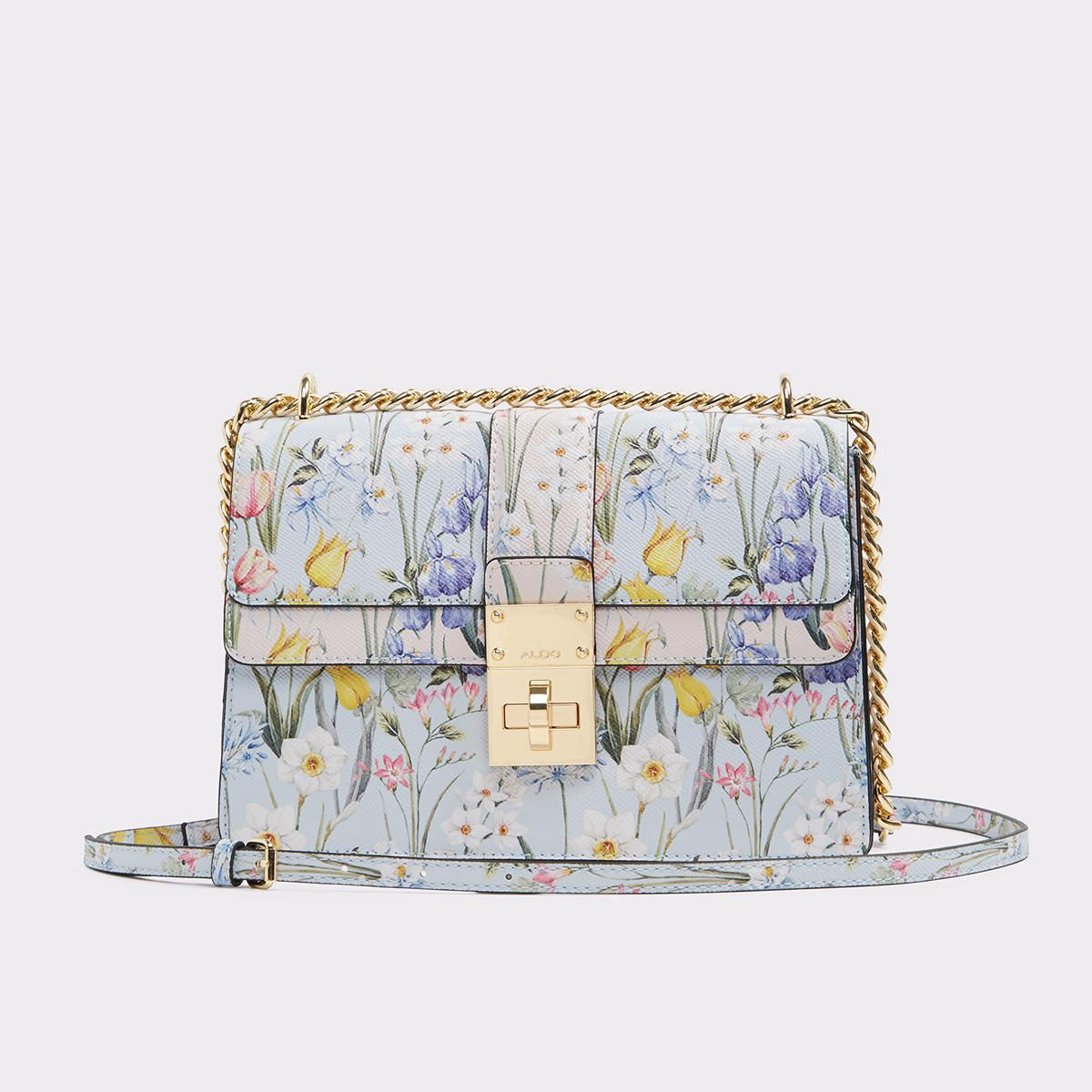 Cerano Sweet florals pair with structured hardware on this structured cross  body bag. Bow detailing with chain adds just the right touch of edge to  femmy ... 2dc7a0c60b655
