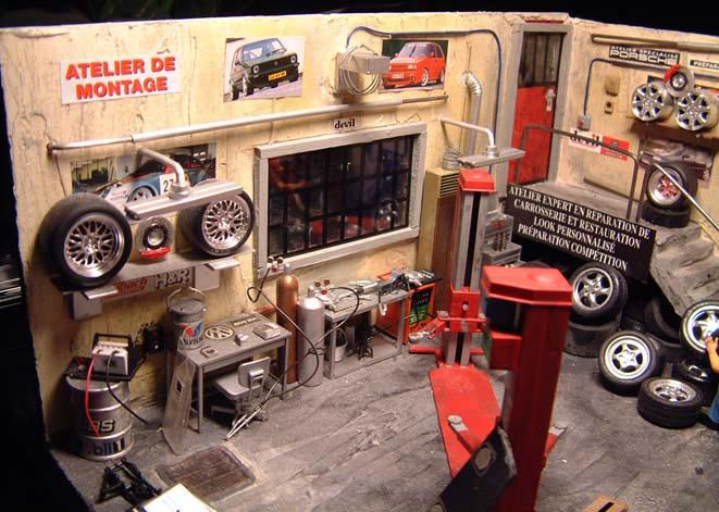 auto garage diorama 1 18 kaufen verkauf auto garage. Black Bedroom Furniture Sets. Home Design Ideas