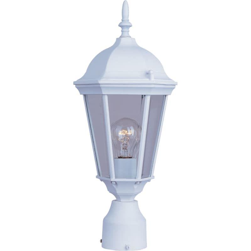 white outdoor post light maxim 1001 westlake light outdoor post white lighting lights single head