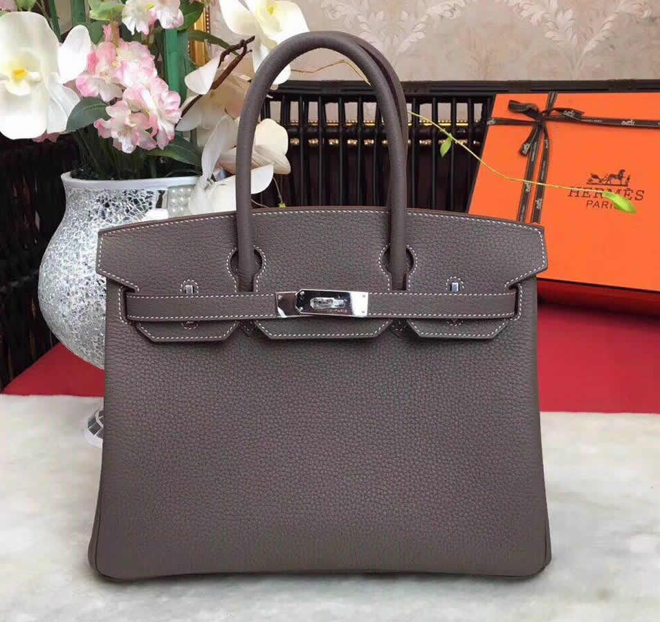 Buy A Discount Hermes Birkin Bag 35cm In Etoupe Togo Leather