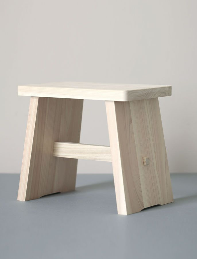 Hinoki Bathroom Stool Everyday Needs Furniture Shelves