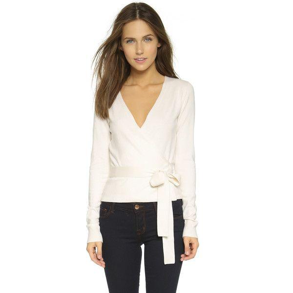 Diane von Furstenberg Ballerina Wrap Sweater (970 QAR) ❤ liked on ...
