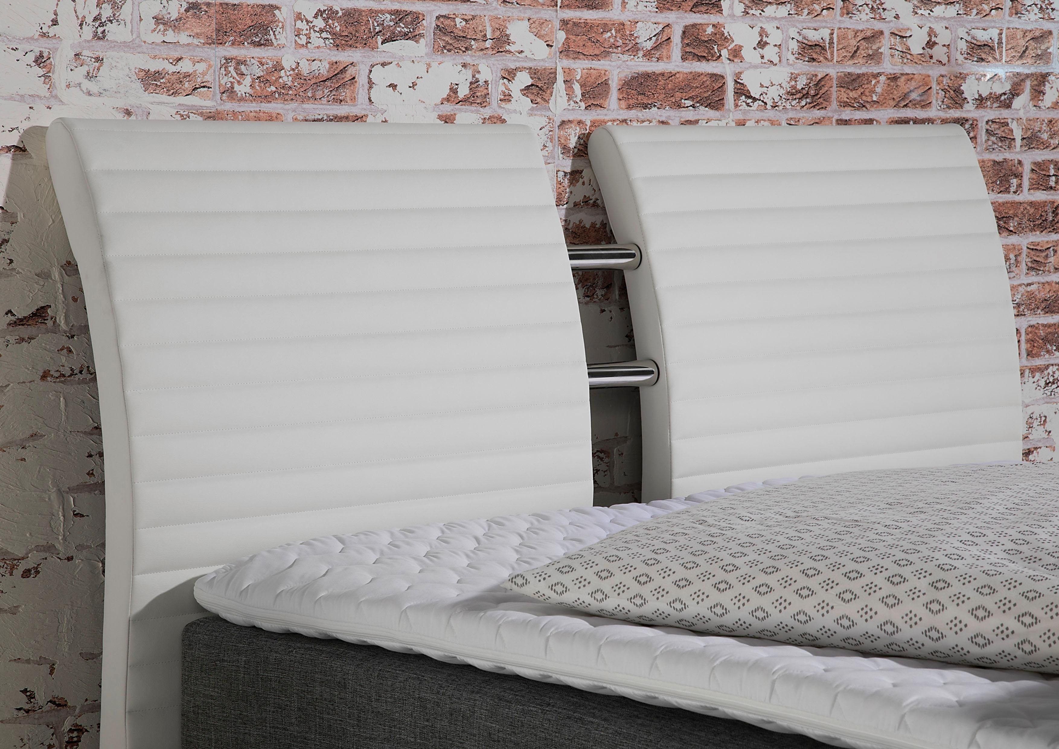 Doppelbett Weiß 140x200 Bett 120x200 Mit Bettkasten Bettgestell 160x200 Ohne Kopfteil Metallbett 200x200 Bett 200x200 Sel Boxspringbett Bett Ideen Bett