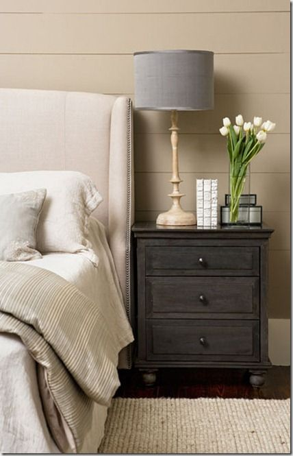 Nightstand I Like The Contrast Gray Grey Bedside Tables Tall Nightstands