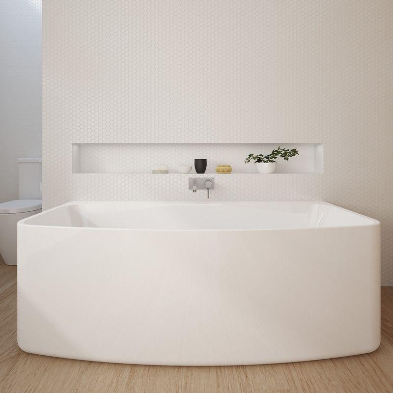 House & Urbane Back to Wall Bath - Ensuring a relaxing soak. http://www ... pezcame.com