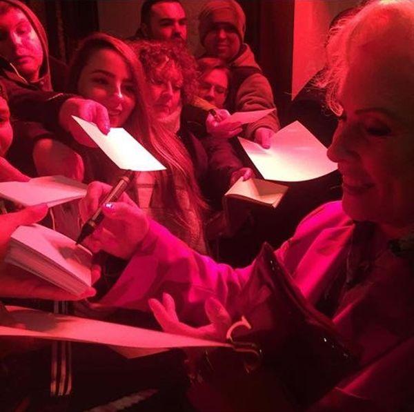 Debbie signing autographs Feb 2017
