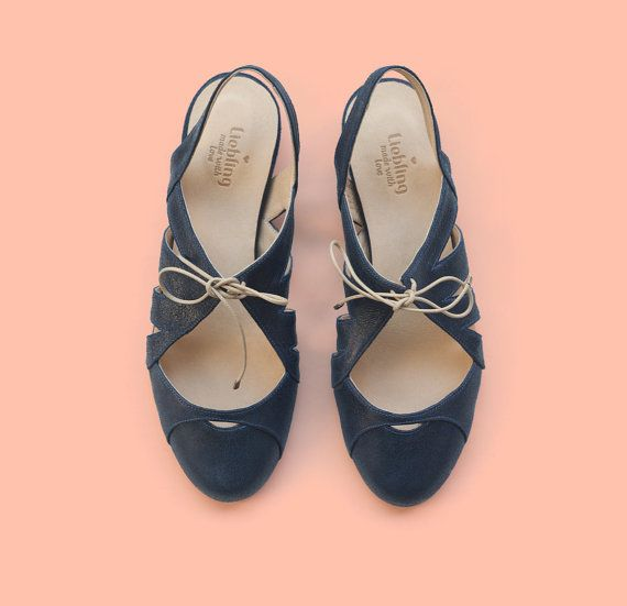 New year's sale  40% off Dark Blue shoes.Mia by LieblingShoes
