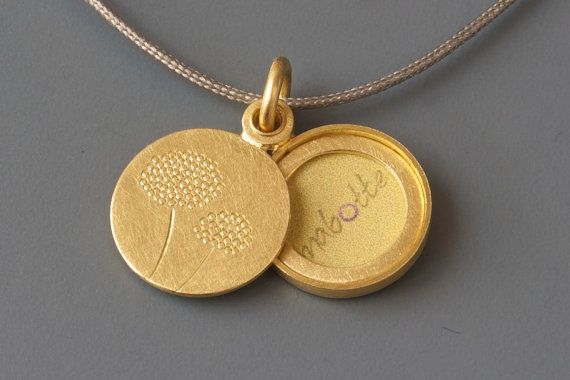 dandelion locket for a small picture handmade round photo locket with delicate dandelions