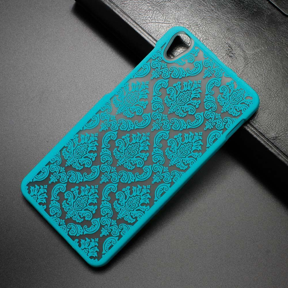Free Film For Lenovo S850 Colorful Rubberized Vintage Pattern Protective Phone Case Damask Hard Back Cover Protector Skin Shell
