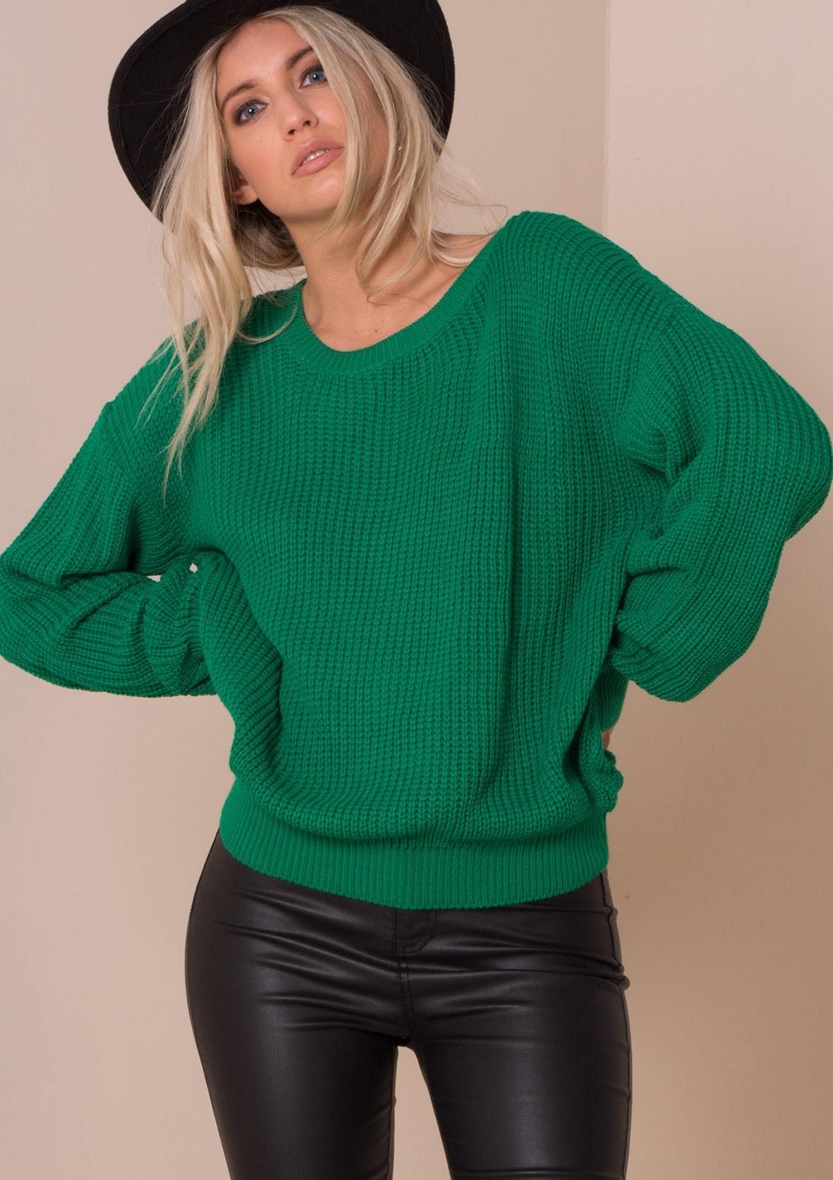 Mysha Green Fisherman Knit Baggy Jumper   Tops   Pinterest ...