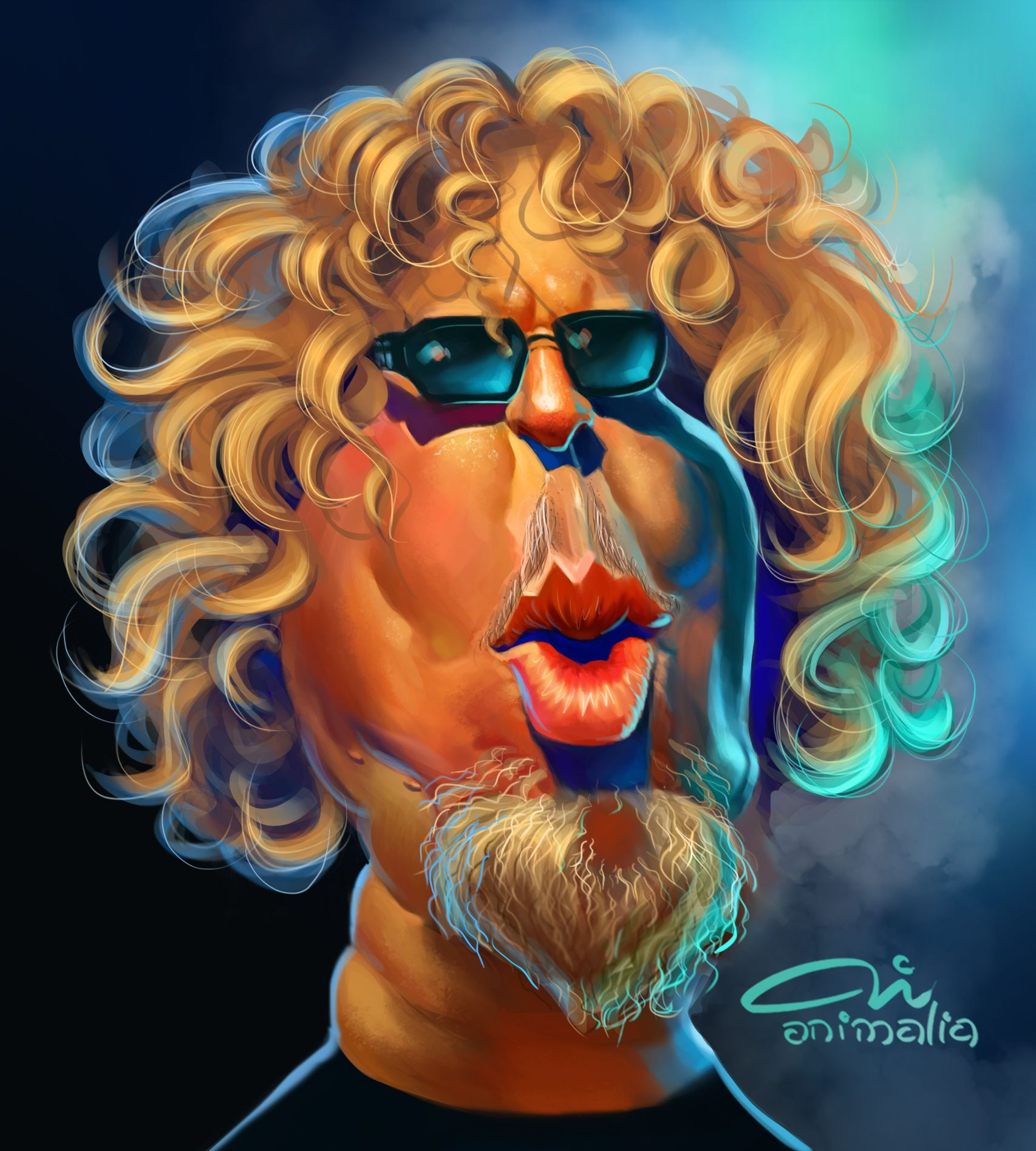Caricature Sammy Hagar By Ti Animalia Caricature My Arts Skeletor