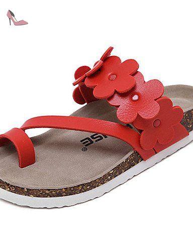 8557ed9f376d9d LFNLYX Chaussures Femme-Habillé-Noir / Rouge / Blanc-Talon Compensé- Compensées