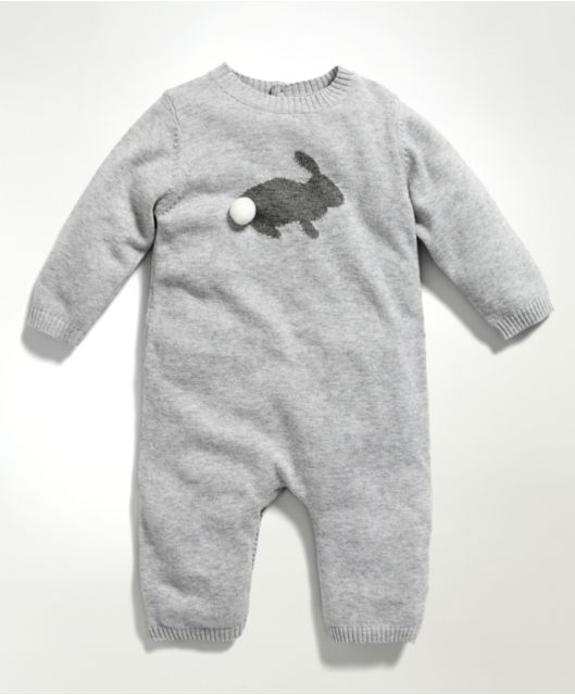 Mamas /& Papas Baby Welcome to The World Knitted Romper