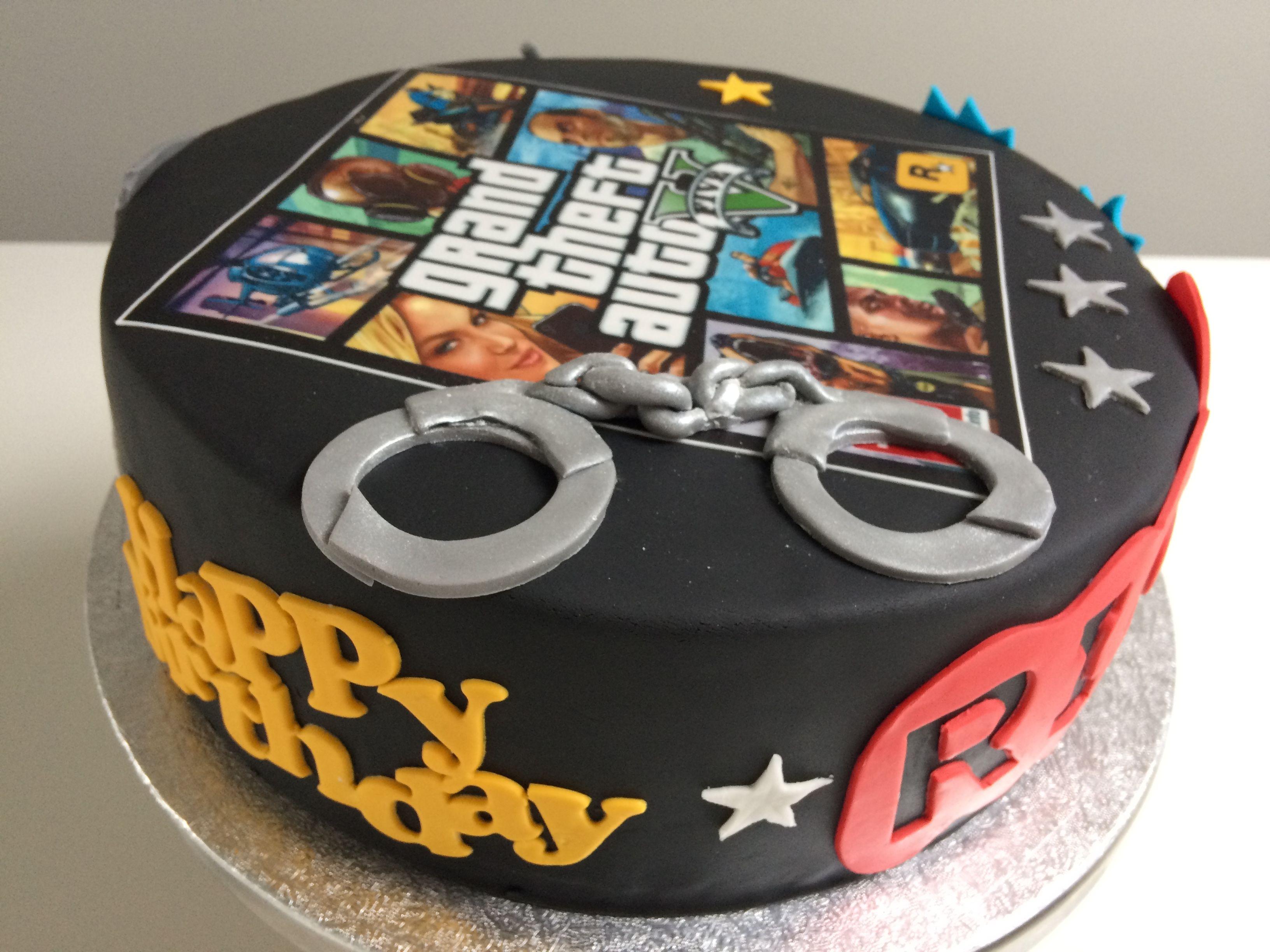 Grand Theft Auto V Cake Torribellebakery Cake Cake Desserts