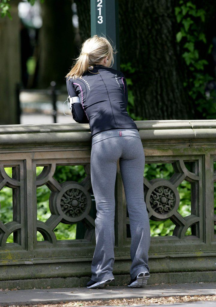3603510d76447 (via tight little ass - uPants - Hot Yoga Pants Pics) Grey Yoga Pants