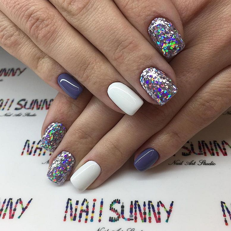 Gorgeous Nail Art With Glitter Polish – Glitter Nails