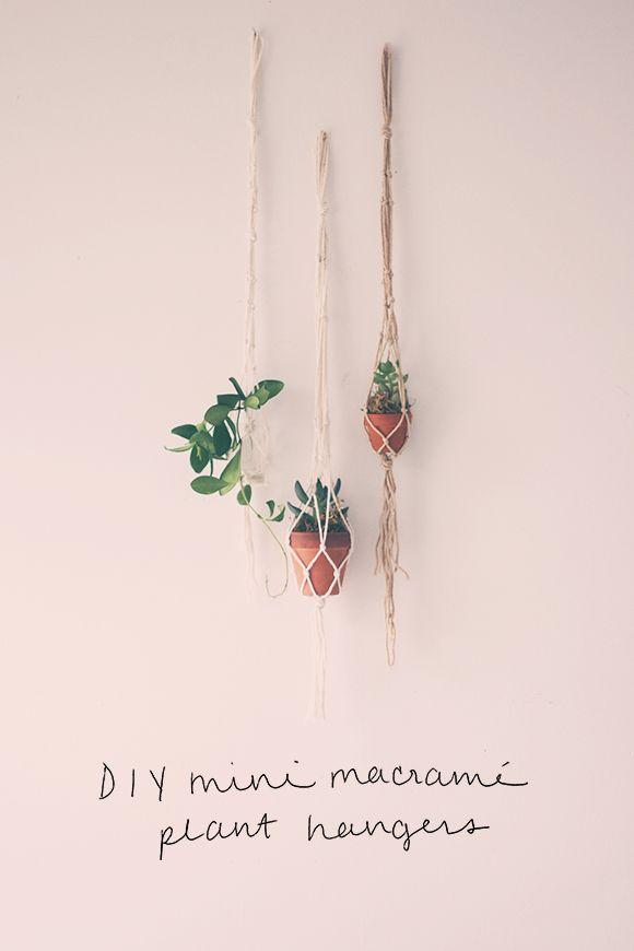 2 Mini String Diys Fp Lifestyle Macrame Plant Hangers Macrame Diy