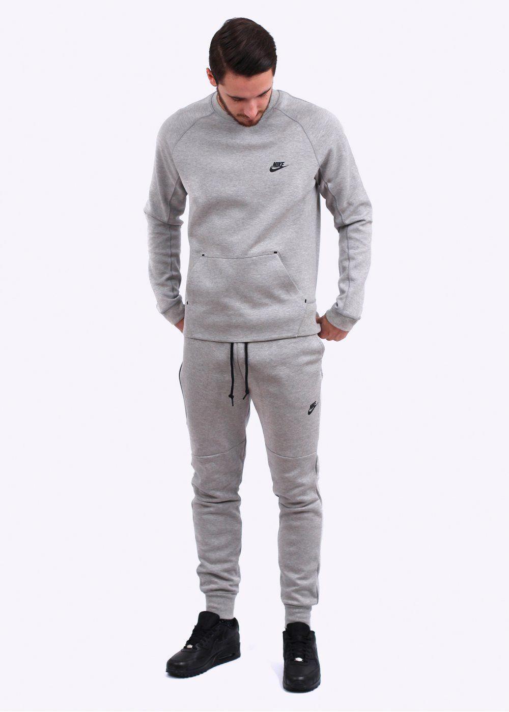 nike tech jacket grey