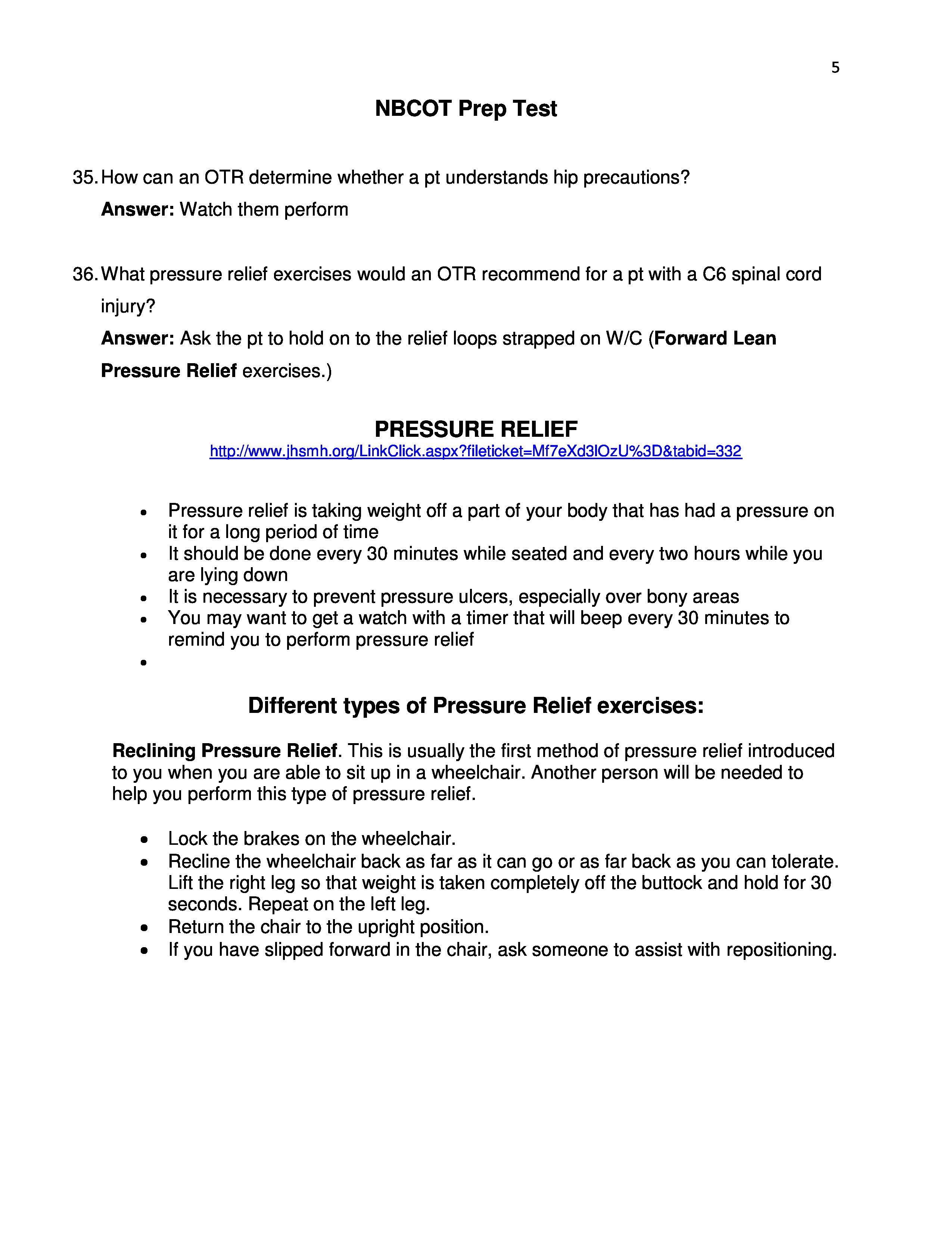Nbcot Prep Test 4 Nbcote Study Guide Pinterest Occupational