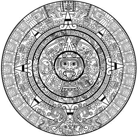 Vector Maya Calendar Aztec Tattoo Designs Aztec Tattoo Mayan Tattoos
