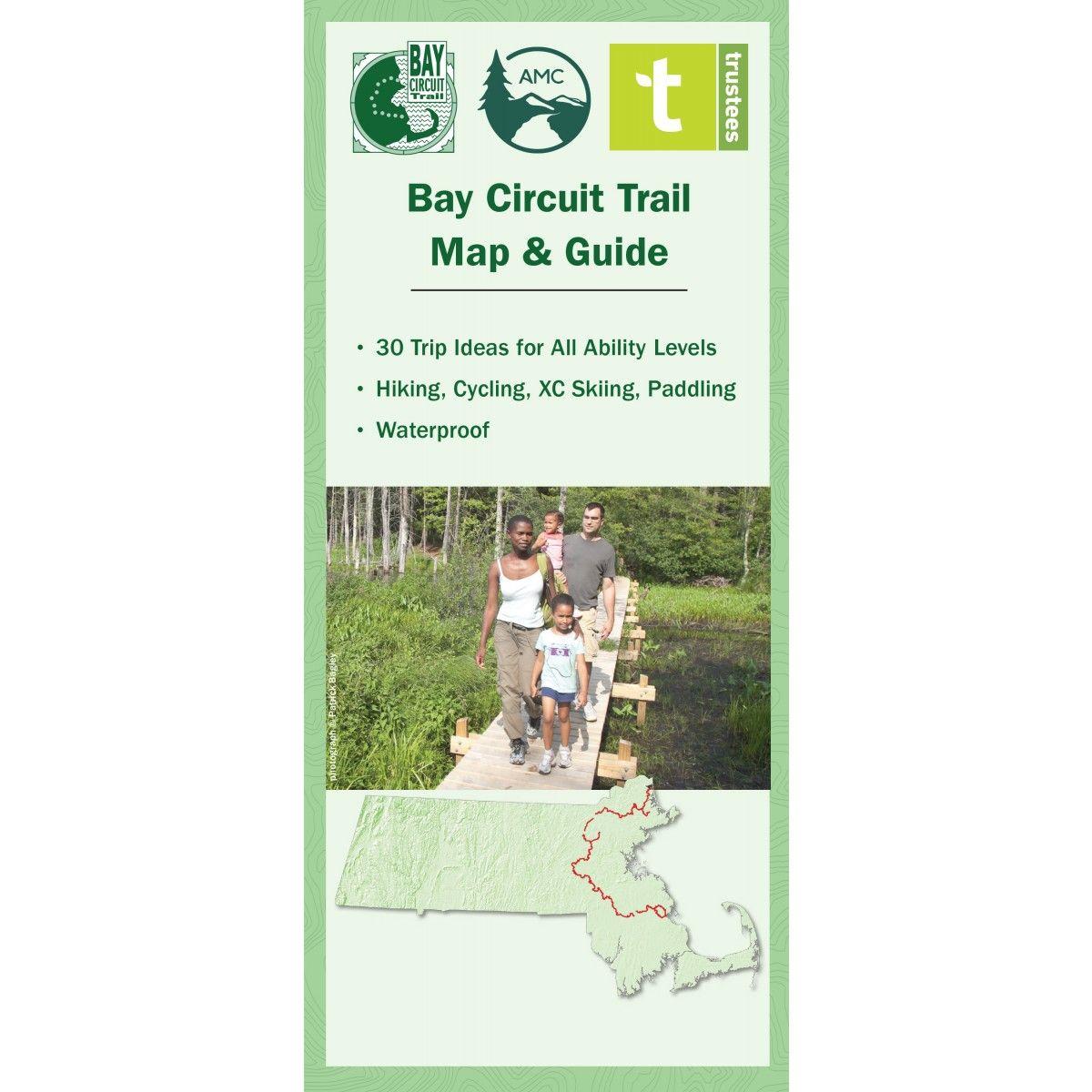 Bay circuit trail map guide amc store appalachian