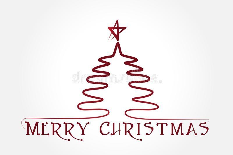 Christmas Tree Vector Christmas Tree Greetings Card Vector Outline Silhouette I Sponsored Vector Greeting Card Image Modern Graphic Design Christmas Tree