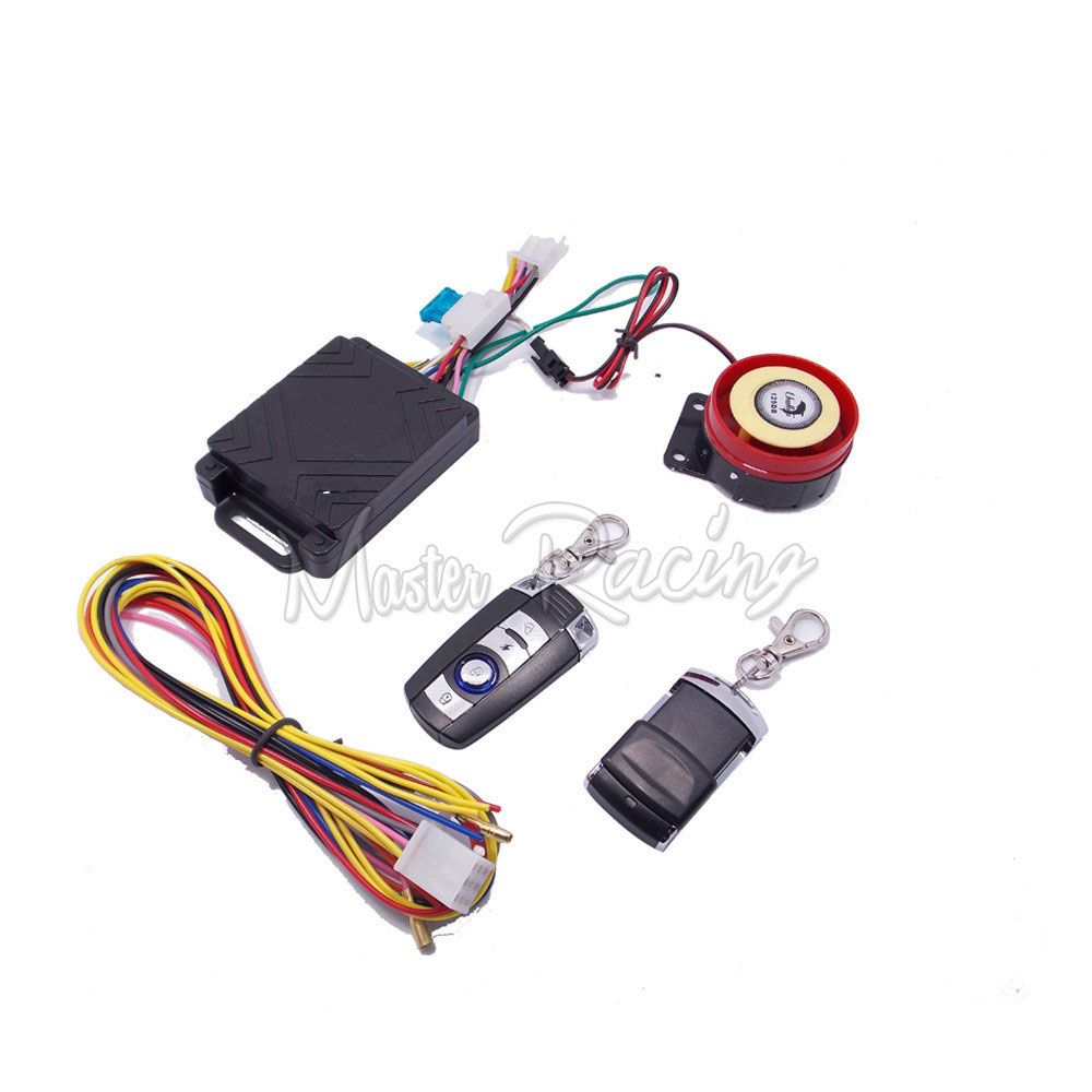 Scooter Alarm Motorcycle System Moto Security Anti Theft Keyless Remote Control Engine Start