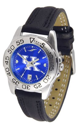 Kentucky Wildcats Sport AnoChrome Ladies Watch with Leather Band