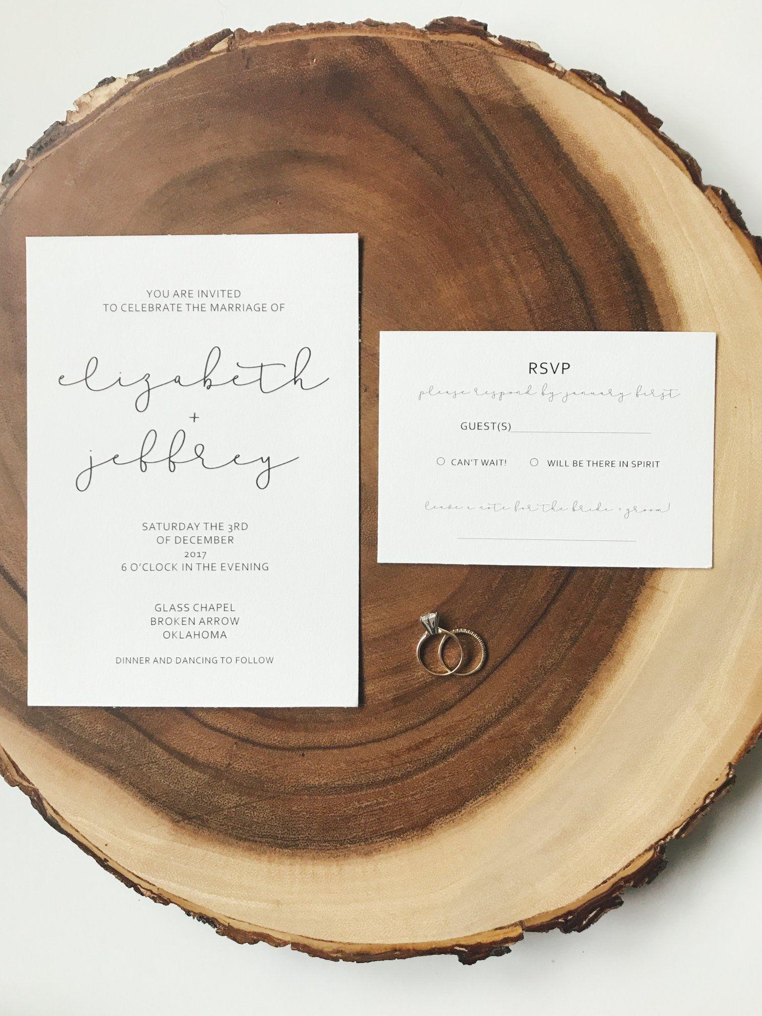 Minimal Sweet Wedding Invitation Suite €� Faith Kristina Design House: Tree Wedding Invitations Arrow At Reisefeber.org