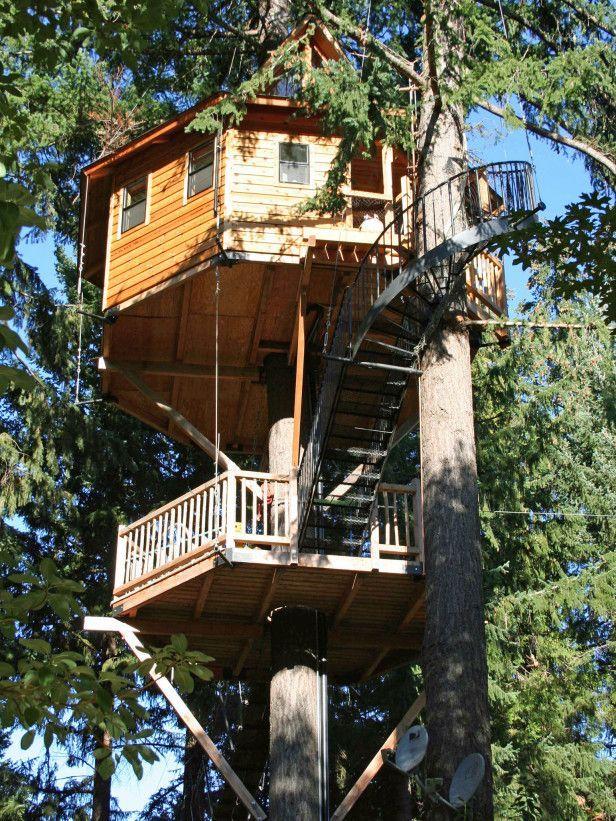 Treehouse Hotel In Oregon Part - 33: Multi-level Tree House