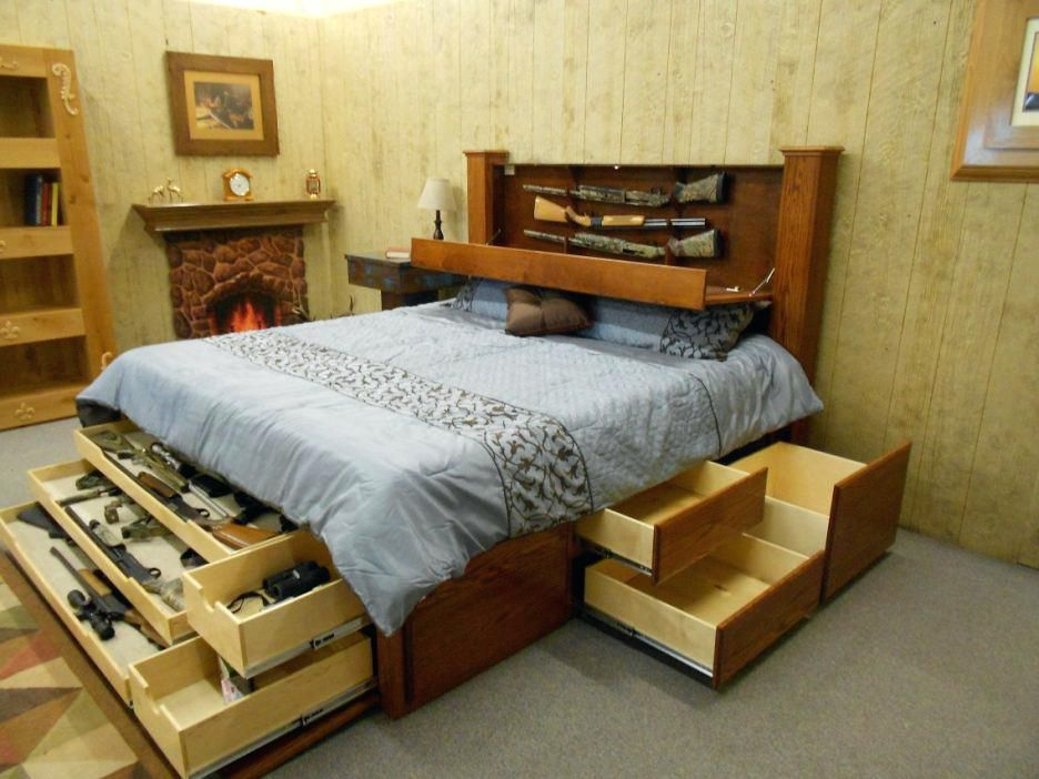 Queen Storage Bed Bookcase Headboard Large Size Of Bed Frames