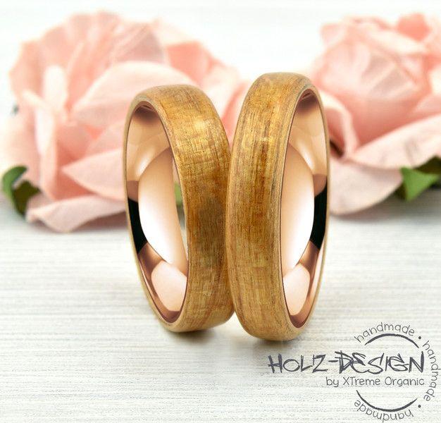 585er Rotgold Ringe Bentwood Eheringe Verlobung