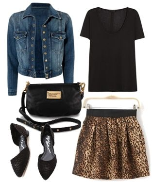 Current Elliott Snap Jacket with leopard skirt3