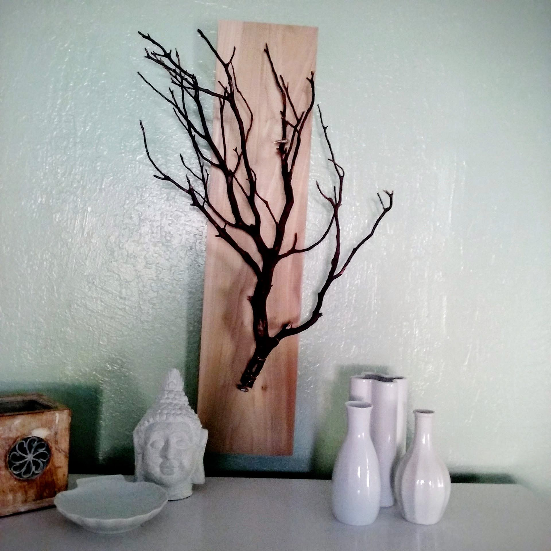 Manzanita branch products, as wall decor or jewelry ...