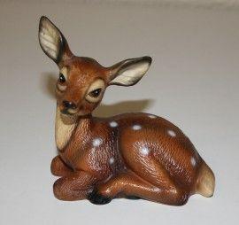 Bambi! prachtig vintage retro beeldje van Bambi het meest populaire hertje