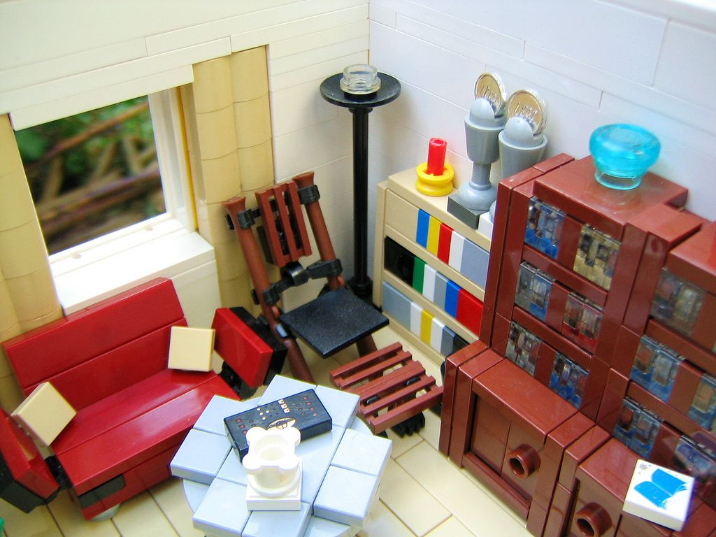 Wohnzimmer.19  Lego furniture, Lego room, Lego design