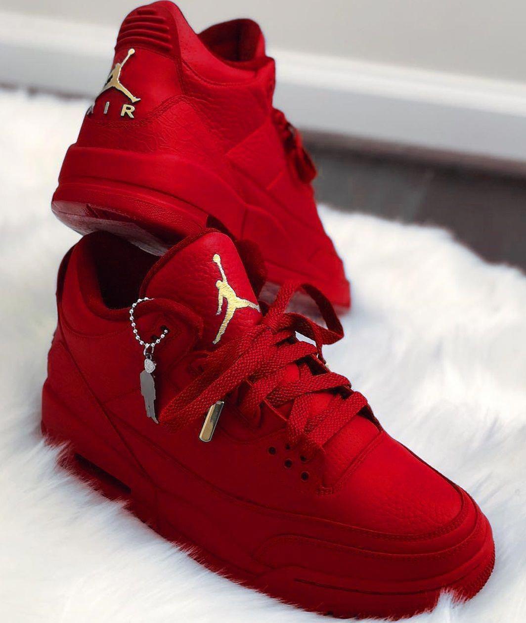 Air Jordan Red #Sneakers | Red sneakers