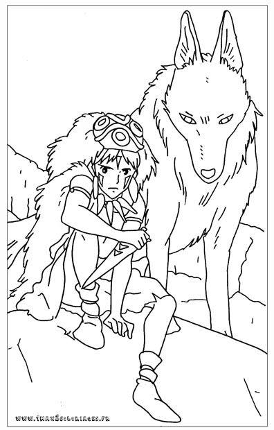 Coloriage Princesse Mononoke.Mononoke Coloriage Coloriage Coloriage Totoro Et Totoro