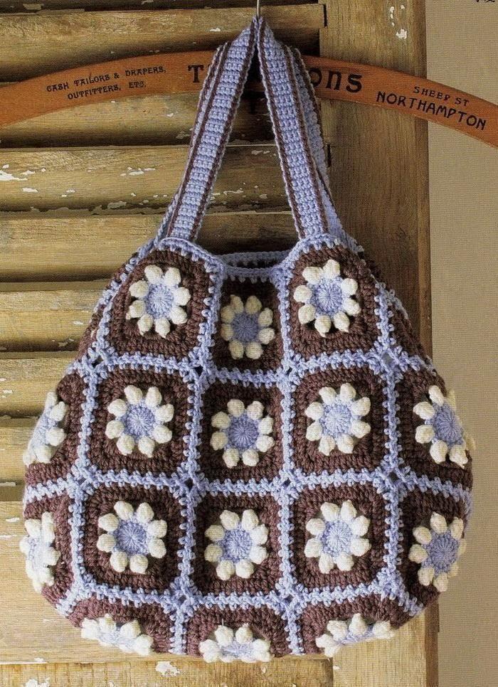 Stilfuld Easy Hæklet: Elegant Hæklet Taske med smukke vinter farver