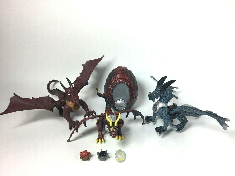 Mega Bloks Krystal Wars Dragon Egg + Dragons with Chest