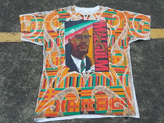 Malcolm X All Over Pattern RbxXE9J1g