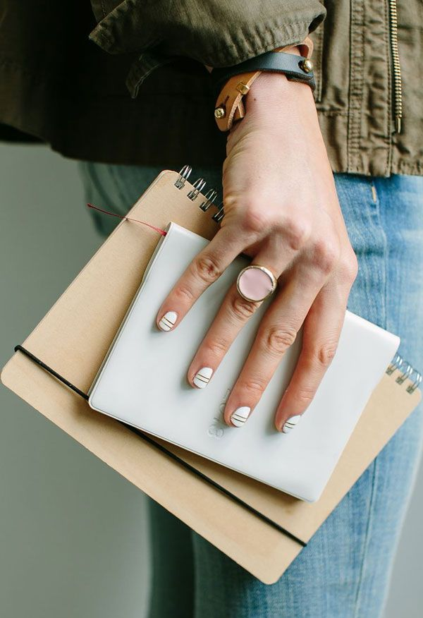 Apartment 34 Monday Work Wear Office Ropriate Nail Art