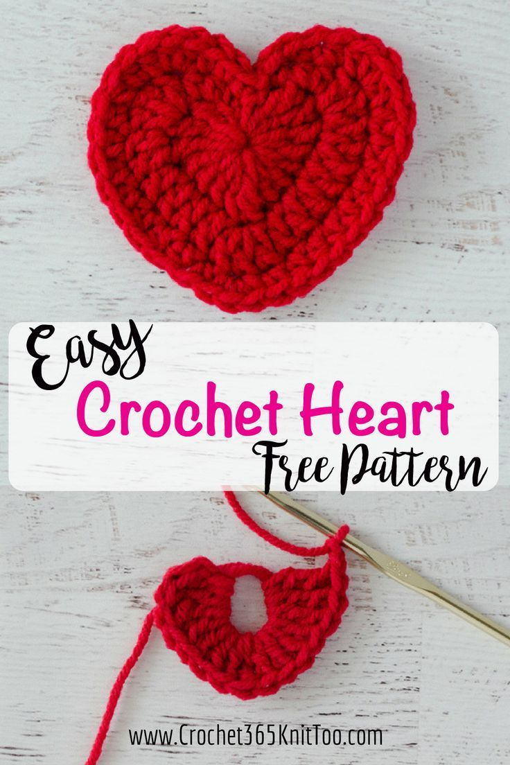 Easy Crochet Heart Pattern | Tejidos | Pinterest | Tejido, Corazon ...