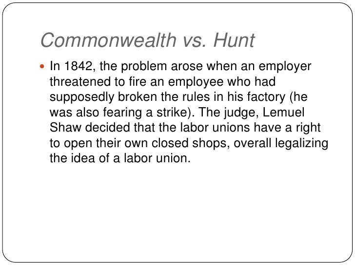 common wealth v hunt